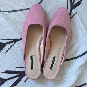 Topshop pink mules